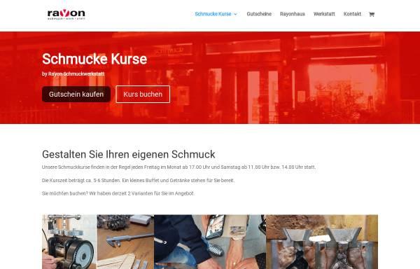 Vorschau von www.rayon-schmuckwerkstatt.de, rayon Schmuckwerkstatt (Goldschmiede in Magdeburg)