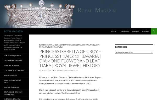Vorschau von www.royal-magazin.de, Schmuck der Königshäuser