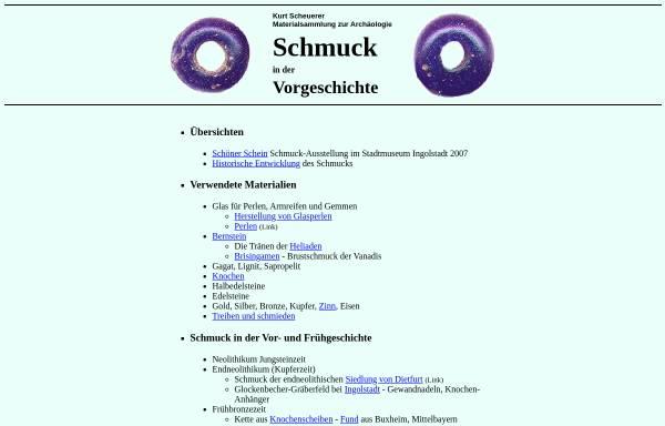 Vorschau von www.bingo-ev.de, Schmuck in der Vorgeschichte