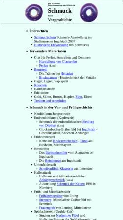 Vorschau der mobilen Webseite www.bingo-ev.de, Schmuck in der Vorgeschichte