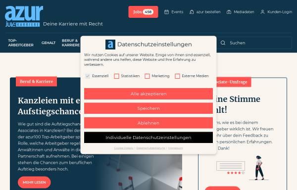 Vorschau von www.azur-online.de, Azur: Anwälte der Zukunft im Rechtsmarkt