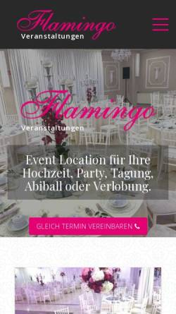 Vorschau der mobilen Webseite www.flamingo-veranstaltungen.de, Flamingo Veranstaltungen GbR