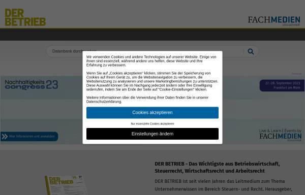 Vorschau von www.der-betrieb.de, Der Betrieb