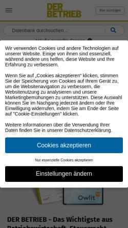 Vorschau der mobilen Webseite www.der-betrieb.de, Der Betrieb