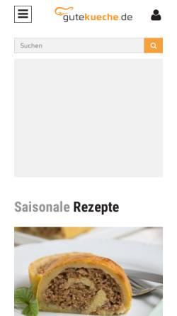 Vorschau der mobilen Webseite www.gutekueche.de, GuteKueche.de