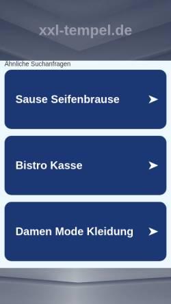 Vorschau der mobilen Webseite www.xxl-tempel.de, XXL-Tempel.de