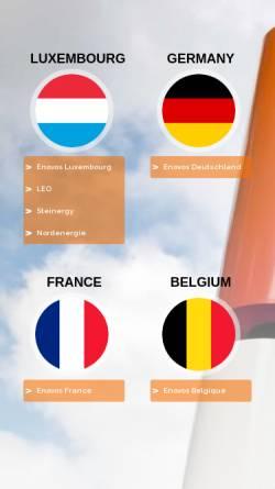 Vorschau der mobilen Webseite www.enovos.eu, Enovos International S.A.