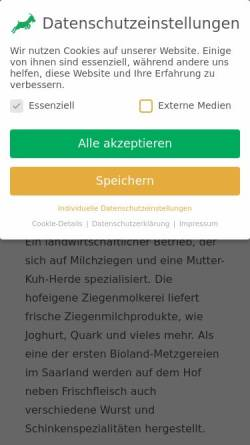 Vorschau der mobilen Webseite www.martinshof.de, Martinshof Biobus GmbH