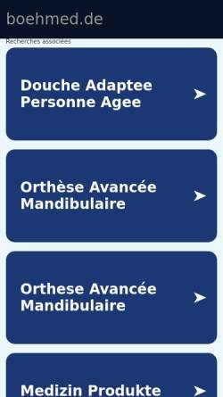 Vorschau der mobilen Webseite www.boehmed.de, BOEHmed Medizintechnik, Inh. Ernst Günter Böhmfeld