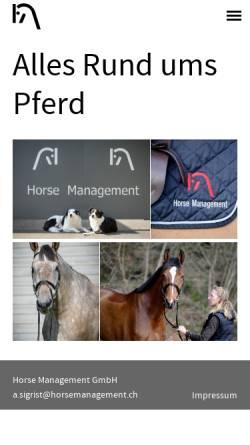 Vorschau der mobilen Webseite www.horseshop-online.ch, HM Reit- und Fahrsport GmbH