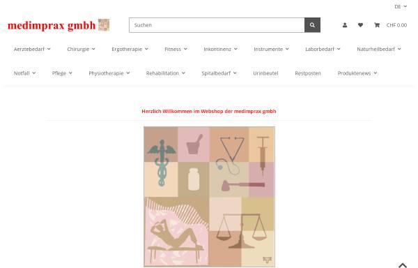 Vorschau von www.medimprax.ch, Medimprax GmbH