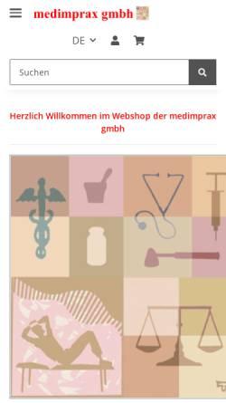 Vorschau der mobilen Webseite www.medimprax.ch, Medimprax GmbH