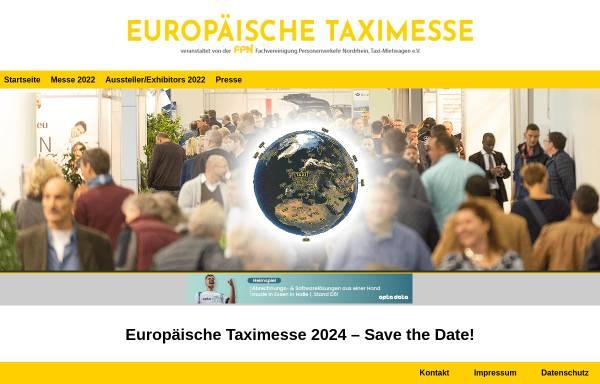 Vorschau von www.eurotaximesse.de, Europäische Taximesse