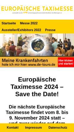 Vorschau der mobilen Webseite www.eurotaximesse.de, Europäische Taximesse