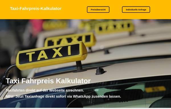 Vorschau von www.taxi-fahrpreis-kalkulator.de, Taxi-Fahrpreis-Kalkulator