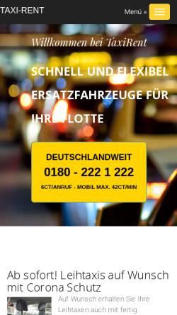 Vorschau der mobilen Webseite www.taxirent.de, Taxi-Rent-Partner Süd/Nord GmbH