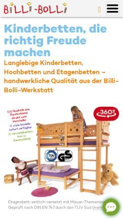 Vorschau der mobilen Webseite www.billi-bolli.de, Billi-Bolli Kindermöbel GmbH