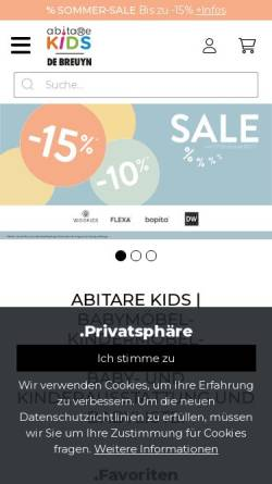 Vorschau der mobilen Webseite debreuyn.de, Kindermöbel de Breuyn