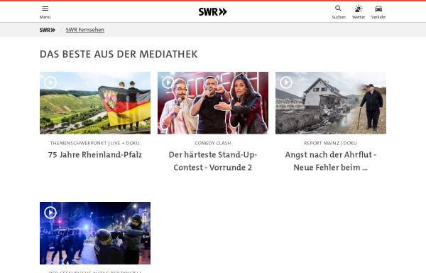 Vorschau von www.swr.de, Willkommen in Walhalla