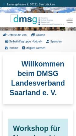 Vorschau der mobilen Webseite www.dmsg-saar.de, DMSG Deutsche Multiple Sklerose Gesellschaft Landesverband e.V.