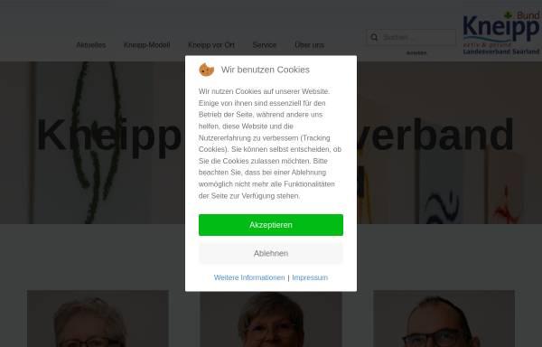Vorschau von www.kneippbund-saar.de, Kneipp Bund e.V. Landesverband