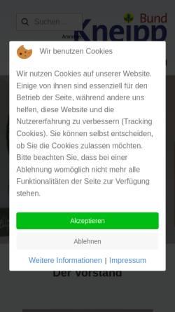 Vorschau der mobilen Webseite www.kneippbund-saar.de, Kneipp Bund e.V. Landesverband