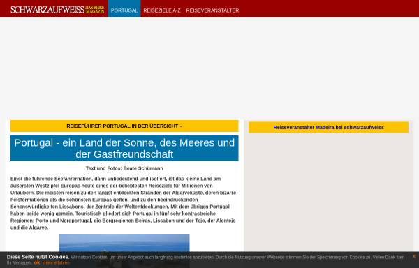 Vorschau von www.schwarzaufweiss.de, Portugal-Reiseführer