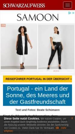 Vorschau der mobilen Webseite www.schwarzaufweiss.de, Portugal-Reiseführer