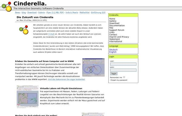 Vorschau von www.cinderella.de, Cinderella