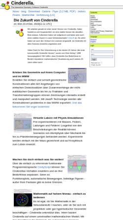 Vorschau der mobilen Webseite www.cinderella.de, Cinderella