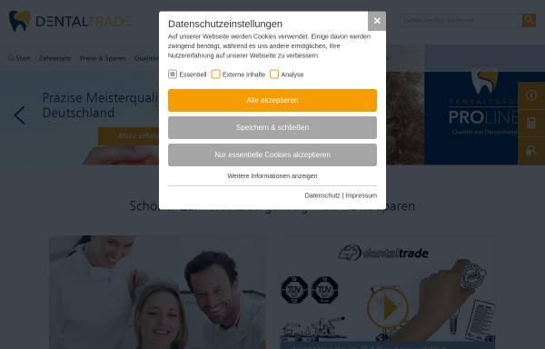 Vorschau von www.dentaltrade-zahnersatz.de, Dentaltrade GmbH & Co.KG