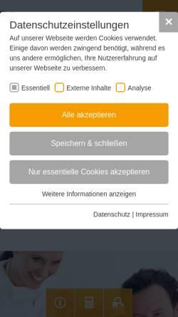 Vorschau der mobilen Webseite www.dentaltrade-zahnersatz.de, Dentaltrade GmbH & Co.KG