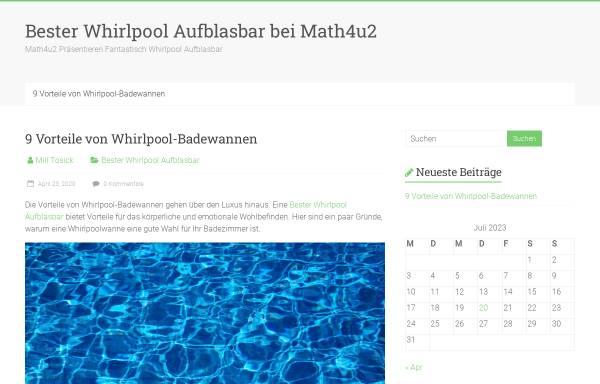 Vorschau von www.math4u2.de, Math4U2