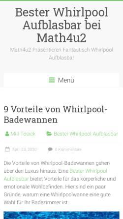 Vorschau der mobilen Webseite www.math4u2.de, Math4U2