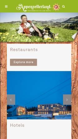 Vorschau der mobilen Webseite www.appenzellerland.ch, Portal Appenzellerland