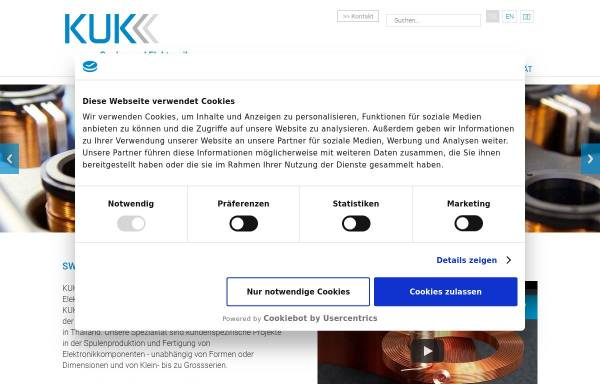 Vorschau von www.kuk.ch, Kuk Electronic AG