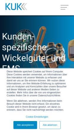 Vorschau der mobilen Webseite www.kuk.ch, Kuk Electronic AG