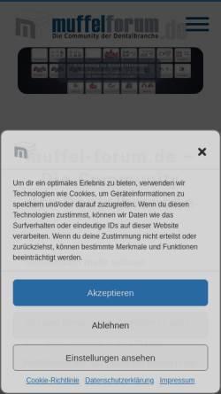 Vorschau der mobilen Webseite www.muffel-forum.de, Muffel-Forum