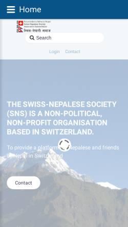 Vorschau der mobilen Webseite swiss-nepal.ch, Freundeskreis Schweiz-Nepal