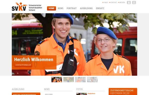 Vorschau von www.verkehrskadett.ch, Schweizerischer Verkehrskadettenverband, SVKV