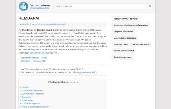 Vorschau von www.medicoconsult.de, Reizdarm - MedicoConsult