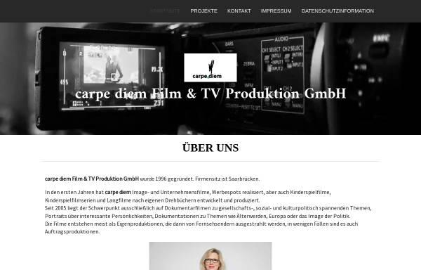Vorschau von www.carpediem-filmproduktion.de, Carpe Diem Film- und TV-Produktion GmbH