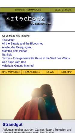 Vorschau der mobilen Webseite www.artechock.de, Artechock