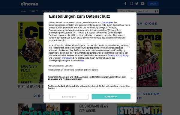 Vorschau von www.cinema.de, Cinema