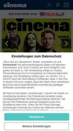 Vorschau der mobilen Webseite www.cinema.de, Cinema
