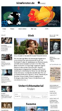 Vorschau der mobilen Webseite www.kinofenster.de, Kinofenster.de
