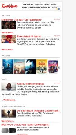 Vorschau der mobilen Webseite www.kinonews.de, Kinonews.de