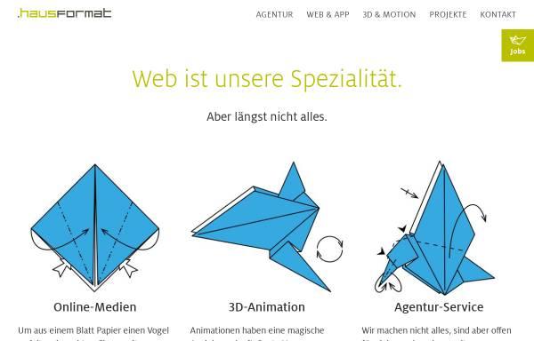 Vorschau von www.hausformat.com, .hausformat GmbH