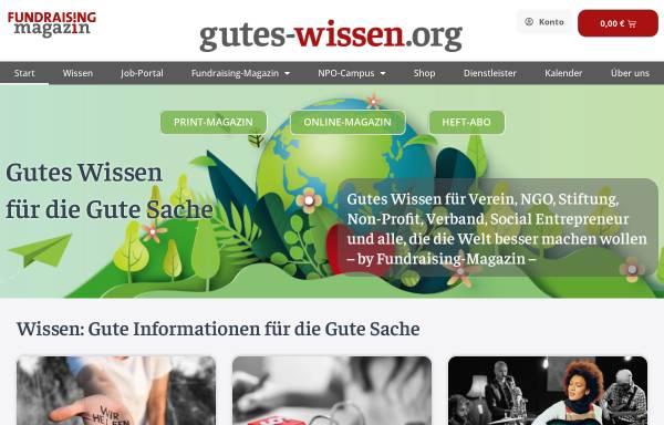 Vorschau von www.fundraiser-magazin.de, Fundraiser-Magazin