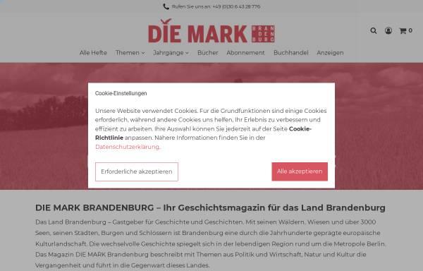 Vorschau von www.die-mark-brandenburg.de, Zeitschrift Die Mark Brandenburg - Verlag für Regional- und Zeitgeschichte Inh.: Marcel Piethe
